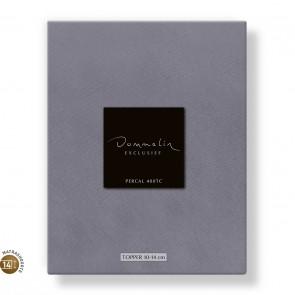 Dommelin Topper Hoeslaken 10-14 cm Percal 400TC Middengrijs 105 x 210 cm