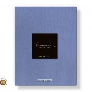 Dommelin Topper Hoeslaken 10-14 cm Percal 400TC Staalblauw 105 x 210 cm