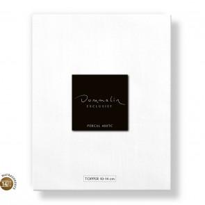Dommelin Topper Hoeslaken 10-14 cm Percal 400TC Wit 180 x 200 cm