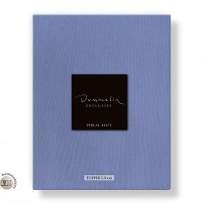 Dommelin Topper Hoeslaken 5-9 cm Percal 400TC Staalblauw 160 x 200 cm