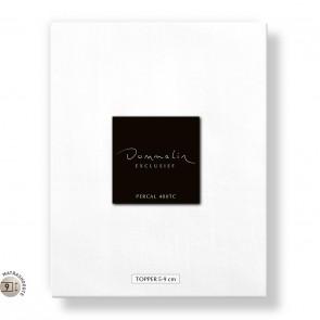 Dommelin Topper Hoeslaken 5-9 cm Percal 400TC Wit 180 x 210 cm