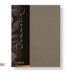 Dommelin Topper Hoeslaken Deluxe Percal Taupe