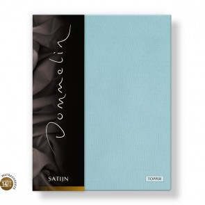 Dommelin Topper Hoeslaken 10-14 cm Satijn 300TC Pastelblauw