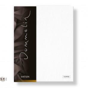 Dommelin Topper Hoeslaken Deluxe Satijn Wit 160 x 200 cm