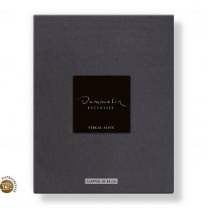Dommelin Topper Hoeslaken 10-14 cm Percal 400TC Donkergrijs 100 x 200 cm