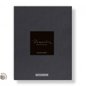 Dommelin Topper Hoeslaken 5-9 cm Satijn 600TC Donkergrijs 180 x 220 cm