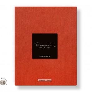 Dommelin Topper Hoeslaken 5-9 cm Satijn 600TC Koraal 180 x 220 cm