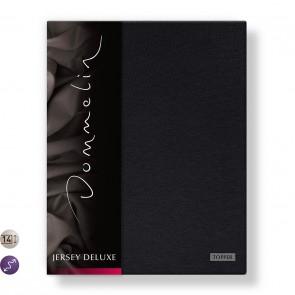 Dommelin Topper Hoeslaken Jersey Deluxe Zwart 180 x 200 cm