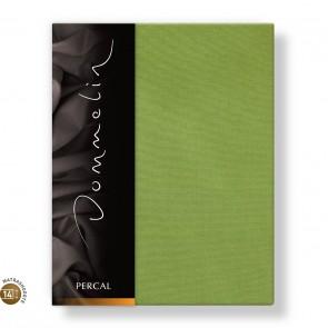 Dommelin Topper Hoeslaken 10-14 cm Percal 200TC Groen 100 x 200 cm