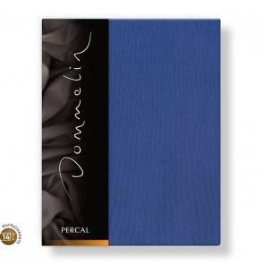 Dommelin Topper Hoeslaken 10-14 cm Percal 200TC Jeansblauw 100 x 200 cm