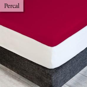 Dommelin Topper Hoeslaken Percal 200TC Cherry 80 x 200 cm