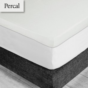 Dommelin Topper Hoeslaken 5-9 cm Percal 200TC Ecru