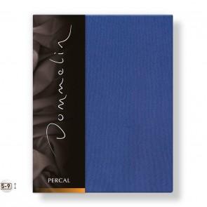 Topper Hoeslaken Percal Jeansblauw