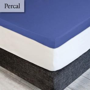 Dommelin Topper Hoeslaken Percal 200TC Jeansblauw 105 x 210 cm