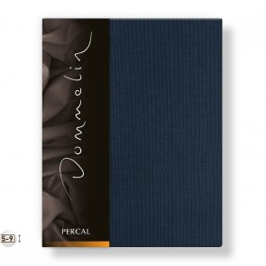 Dommelin Topper Hoeslaken Deluxe Percal Nachtblauw 80 x 210 cm
