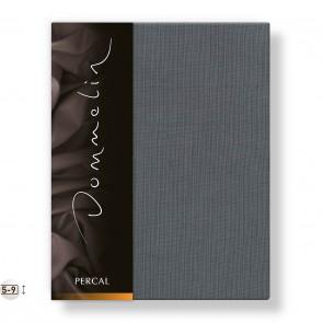 Dommelin Topper Hoeslaken Deluxe Percal Olifantgrijs 180 x 220 cm