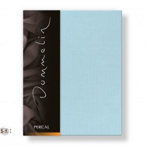 Dommelin Topper Hoeslaken Deluxe Percal Pastelblauw 210 x 220 cm
