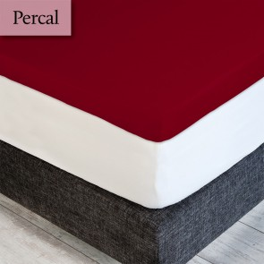 Dommelin Topper Hoeslaken Percal 200TC Rosso