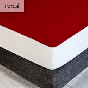 Dommelin Topper Hoeslaken 5-9 cm Percal 200TC Terracotta 100 x 200 cm