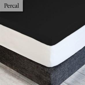 Dommelin Topper Hoeslaken 5-9 cm Percal 200TC Zwart 90 x 200 cm