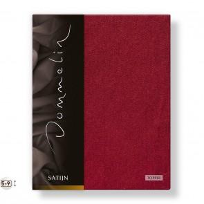 Dommelin Topper Hoeslaken Deluxe Satijn Rosso 100 x 200 cm