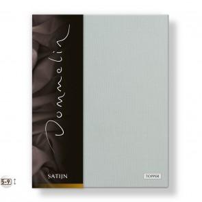 Dommelin Topper Hoeslaken Deluxe Satijn Zilver 100 x 200 cm