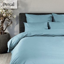 Dommelin Dekbedovertrek Deluxe Percal Pastelblauw extra groot