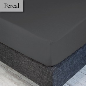 Dommelin Hoeslaken Percal 200TC Olifantgrijs 100 x 200 cm
