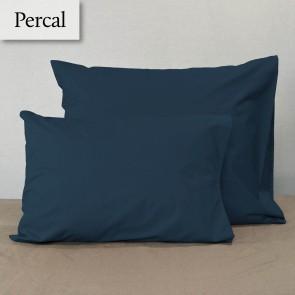 Dommelin Kussensloop Percal 200TC Nachtblauw 60 x 70 cm