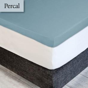 Dommelin Topper Hoeslaken 5-9 cm Percal 200TC Pastelblauw 160 x 200 cm