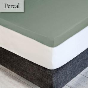 Dommelin Topper Hoeslaken 5-9 cm Percal 200TC Spargroen 160 x 200 cm