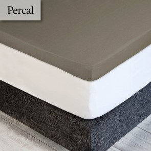 Dommelin Topper Hoeslaken 5-9 cm Percal 200TC Taupe