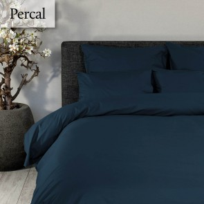Dommelin Dekbedovertrek Deluxe Percal Nachtblauw lits-jumeaux