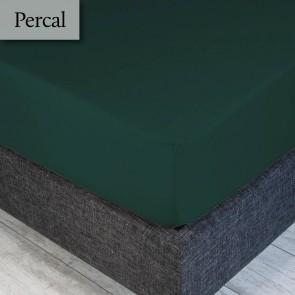 Dommelin Hoeslaken Percal 200TC Antiekgroen 90 x 200 cm