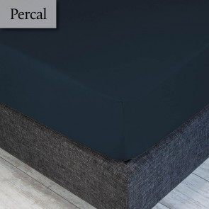 Dommelin Hoeslaken Percal 200TC Nachtblauw 210 x 220 cm