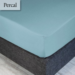 Dommelin Hoeslaken Percal 200TC Pastelblauw 210 x 220 cm