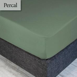 Dommelin Hoeslaken Percal 200TC Spargroen 90 x 200 cm