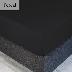 Dommelin Hoeslaken Deluxe Percal Steenkool 160 x 210 cm