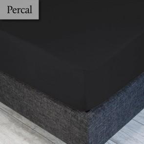 Dommelin Hoeslaken Percal 200TC Steenkool 210 x 220 cm