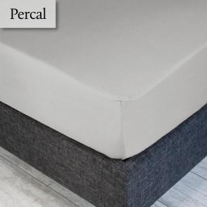 Dommelin Hoeslaken Percal 200TC Zilver 90 x 200 cm