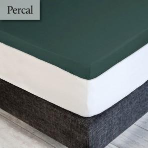 Dommelin Topper Hoeslaken Deluxe Percal Antiekgroen 160 x 210 cm