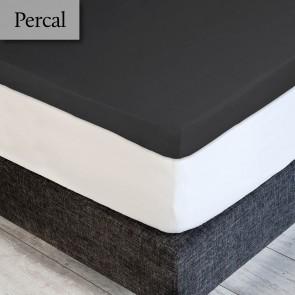Dommelin Topper Hoeslaken Deluxe Percal Steenkool 160 x 210 cm