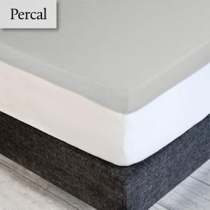 Dommelin Topper Hoeslaken Deluxe Percal Zilver 160 x 210 cm