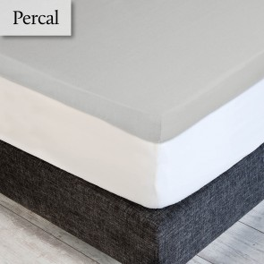 Dommelin Topper Hoeslaken Percal 200TC Zilver 210 x 220 cm