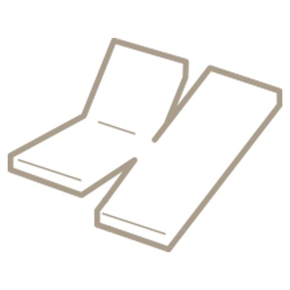 Dubbel split hoeslaken met dubbele inkeping voor een verstelbaar topmatras