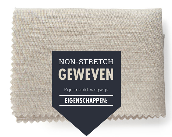 Non-stretch geweven