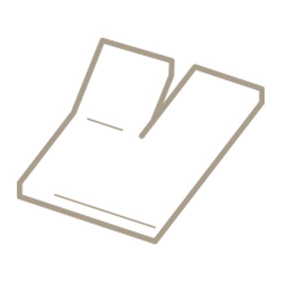 Split topper hoeslaken met enkele inkeping voor een verstelbaar topmatras